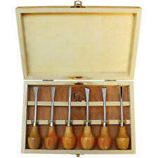 "6pc 5-1/4"" Wood Carving Chisel Set Wooden Ball Handle Woodcut Gunsmithing"