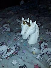 white unicorn ornaments x2