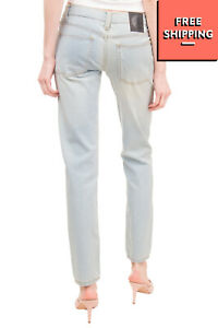 CHEAP MONDAY Jeans W25 L32 Stretch Blue Faded Effect Zip Fly Mid Waist