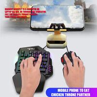 HXSJ Einhand Spieletastatur Mit 35 Tasten + 7 Tasten Maus Für PC Spiele PUBG