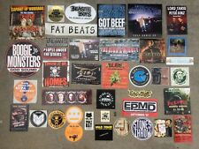 38 HIP HOP Promo Sticker LOT Wu Tang Clan Cypress Hill CNN El-P Redman LP RAP