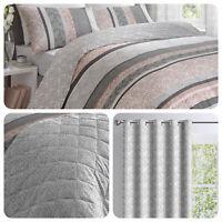 Dreams & Drapes HANWORTH Pink & Grey Fern Bedding & Bedroom Accessories