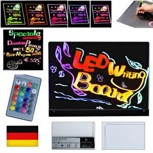 LED Schreibtafel Licht-Tafel/Werbetafel/Beleuchtung/Writing Board 16x12'' DE