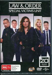 Law and Order Special Victims Unit SVU Season 20 Twenty DVD NEW Region 4