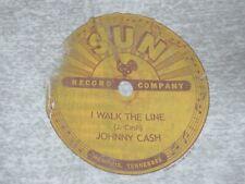 SUN RECORDS - JOHNNY CASH - WALK THE LINE - 2XL - GRAY T-SHIRT- C1509