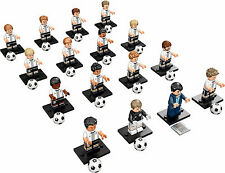 LEGO 71014 Mini-figures DFB Germany Soccer Team Complete Set of 16 Free Shipping