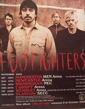 Foo Fighters 2002 Poster Advert Uk Concert Tour