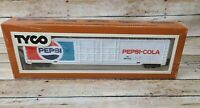 Vintage HO Scale Tyco Train Pepsi Cola 60' Box Freight Car Reefer #360G with Box