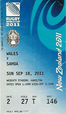 WALES v SAMOA 2011 RUGBY WORLD CUP TICKET POOL D MATCH no17