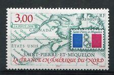 ST-PIERRE-et-MIQUELON, 1998, timbre 680, la FRANCE en AMERIQUE du NORD, neuf**