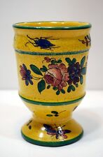 RARE POT ANCIEN terre cuite BAVENT fleurs insectes  signé SWARTE Calvados