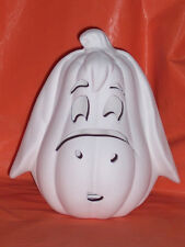 """Ceramic Bisque Ready to Paint Eeyore Pumpkin 6.75"""" tall x 6"""" wide electric incl."""