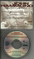 JOHN HAMMOND jr. & JJ CALE I've got Love if you PROMO DJ CD Single want it J.J.