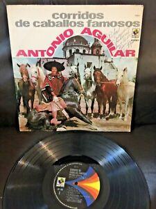 ANTONIO AGUILAR Autographed !! Signed 1972 MEXICO LP Latin Rancheras Mariachi