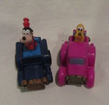 1989 McDonald's Disney Mickey's Birthdayland Race Cars Happy Meal Toys Lot of 2