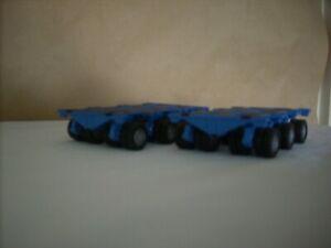 "CORGI HEAVY HAULAGE - 1.50 SCALE NICOLAS TRAILERS X 2  "" PLAIN BLUE """