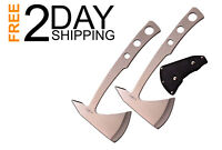 Throwing Axe Set with a Stainless Steel Satin Finish By Perfect Point, 2 PCS Set