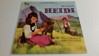 Walt Disney's The Story Of Heidi Disneyland Vinyl LP Record Album 12""