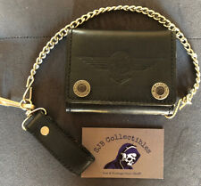 Harley Davidson Motorcycle Tri-fold Wallet W Chain, Watch Face