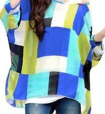 NINA PROUDMAN STYLE GREEN/BLUE ,BATWING,KAFTAN ,layered style TOP SzxL BNWT