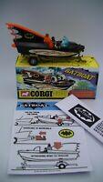 Corgi Batboat And Trailer 107 Vintage 1967 Original 1st Edition Near Mint Boxed