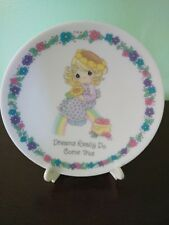 """2001 Precious Moments """"Dreams Really Do Come True"""" Plate with Stand"""