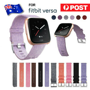 For Fitbit Versa / Versa 2 / Lite Canvas Fabric Replacement Watch Wrist Band