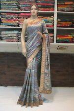 Indian Ethnic Silk Bandhani Saree Red Blouse Bollywood Sari Bridal Party Dress