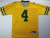 Brett Favre #4 Green Bay Packers Reebok NFL Gold Version Jersey (L) Large Rare