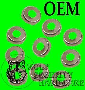 Lot of 10 GM OEM Door Trunk Lock Cylinder Case Face Cap Chrome Strattec 320395