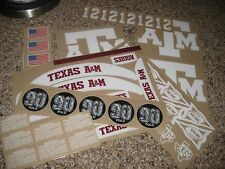 Texas A&M Aggies  20 mil 3M vinyl full size football helmet decals