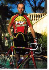 CYCLISME carte cycliste ANDRE TETERIOUK équipe LOTTO MOBISTAR 1998