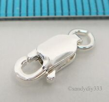3x ITALIAN  STERLING SILVER LOBSTER CLASP BEADS  4mm x 10mm (#019)