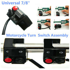 "7/8""Motorcycle Handlebar Mount Push Button Horn Beam Winker Turn Switch Assembly"