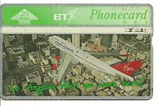 RARE / CARTE TELEPHONIQUE - LOS ANGELES -AVION VIRGIN ATLANTIC PLANE / PHONECARD