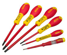 Stanley Screwdriver Set 6pce Insulated 1000v SLOTTED & PHILIPS FATMAX 0-65-441