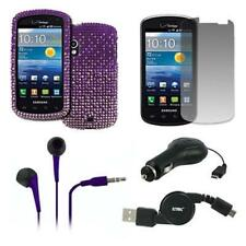 Fade Bling Case+LCD+Purple Earbuds+x2 Retractables for Samsung Stratosphere