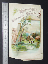 CHROMO 1890-1900 CHOCOLAT CACAO BENSDORP AMSTERDAM BUSSUM