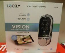LOCKLY Vision Satin Nickel Deadbolt with Video Doorbell Smart Lock PGD798SN NEW