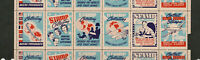 1947 Stamp collecting hobby Promotional Poster Stamps  Strip of 6 Cinderella MNH