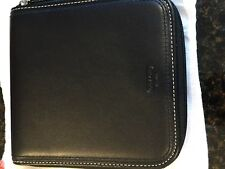COACH Black Leather with White Stitching CD/DVD HolderNWT