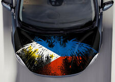 Philippine Flag Car Hood Wrap Full Color Vinyl Sticker Decal Fit Any Car