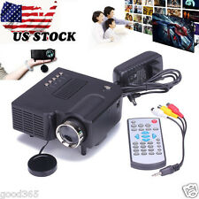 HD 1080P LED LCD Multimedia Mini Projector Home Theater Cinema VGA HDMI USB SD