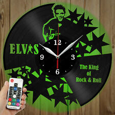 LED Vinyl Clock Elvis LED Wall Art Decor Clock Original Gift 3884