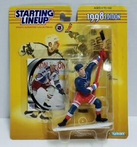 BRIAN LEETCH New York Rangers Kenner 1998 NHL Starting Lineup SLU Figure & Card