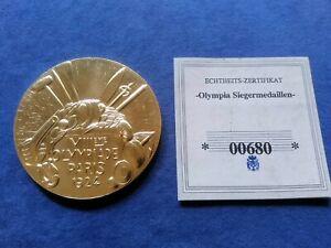 """Medaille / Siegermedaille """"1924 Olympische Spiele, Paris"""", Durchmesser 50mm"""