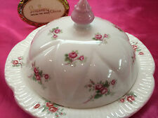 SHELLEY  ROSE SPRAY  BUTTER DISH  # 13545