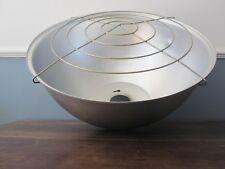 Large Vintage Industrial Aluminium Light Shade (retro reclaimed grill bar lamp)