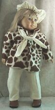 """Doll Clothes Made 2 Fit American Girl 18"""" Fleece Coat Jacket Scarf Pants Beret'"""