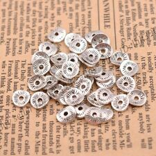 Tibetan Silver/Gold/Bronze Wavy Round Charm Spacer Beads for Bracelet Z3038